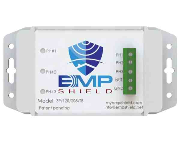 EMP Shield 120-208 Volt AC 3 Phase Generator / Industrial Model Terminal Box Version 3