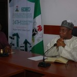 NSE President Otis Anyaeji and COREN President Khashim Ali strategise on Nigerian Engineering Development