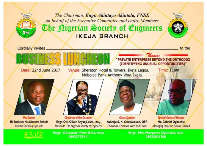 Identifying the Opportunities in Private Enterprises: NSE Ikeja invites to its Business Luncheon