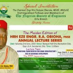 Orlu Engineers to Honour Foundation Member of NSE, HRH Eze R. A. Obioha at Distinguished Lecture