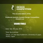Excitement as Prof. Ayodele Awojobi Design Competition, PAADC second edition draws near
