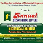 NIMechE TPI SET TO ORGANIZED IT FIRST ANNUAL DEPARTMENTAL LECTURE
