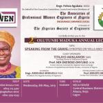 APWEN GEARS UP FOR SECOND EDITION OF OLUTUNMBI JOANNA MADUKA ANNUAL LECTURE