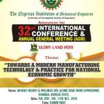 "NIMECHE INTERNATIONAL CONFERENCE AND AGM ""GLORY LAND 2019"" : CALL FOR PAPER"