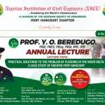 NICE sets for 9th Prof Y. O. Beredugo Annual Lecture: focus on flooding in Niger Delta