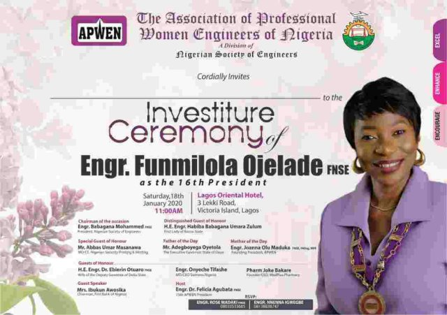 It is Homecoming for Funmilola Ojelade as Gov Oyetola hosts APWEN's new President; Calls for more women in engineering