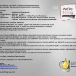 Project Manager, Electrical and Instrumentation wanted
