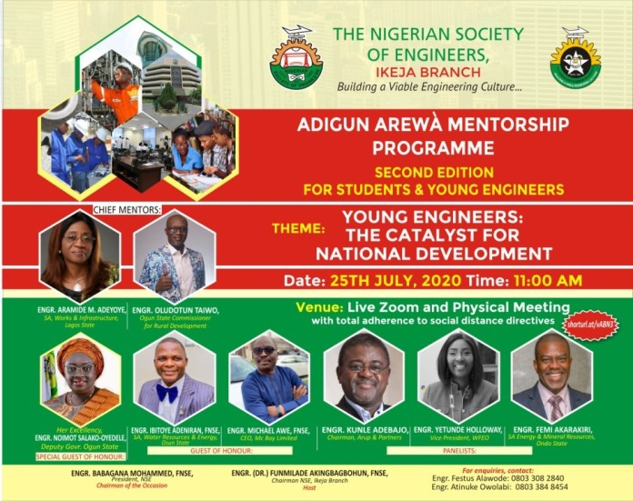Adigun Arewa mentoring Scheme: NSE Ikeja sets to guide Young Engineers to be catalysts for National Development
