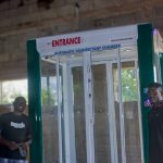 Engineers build Nigeria's first door-mount automated facemask detection machine