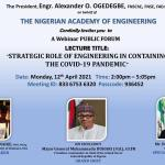 President Muhammadu Buhari, Sanwo-Olu to grace Academy of Engineering 2021 Annual Lecture