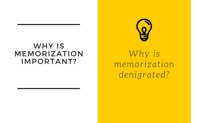 Why is memorization important?
