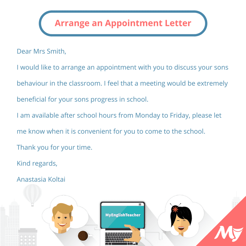 make an appointment email sample what