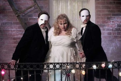 """Nate Torrence, left, Rebel Wilson and Kevin Bishop in """"Super Fun Night"""" on ABC."""