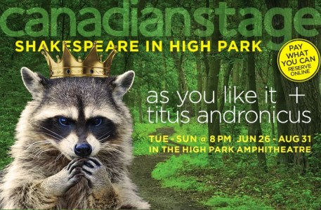 shakespeare in high park poster