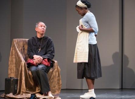 Matamoros and Oladejo in Tartuffe: Photos by Cylla von Tiedemann
