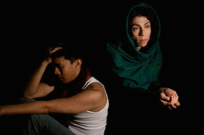 with Lara Arabian in The Container (Photo by Lauren Posloski)
