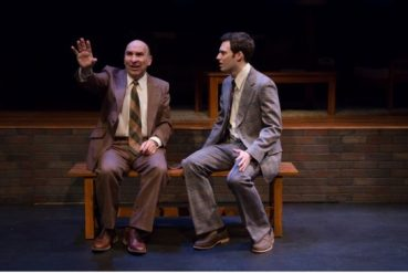 Avery Saltzman and Jake Epstein in a scene from Therefore Choose Life. Photo credit: Joanna Akyot.