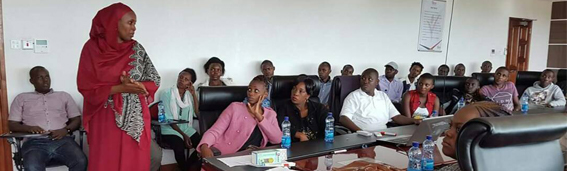 Youth Fund official conducts Pre-departure training
