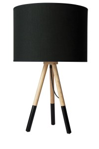 Salt&Pepper | Mood Wooden Lamp 65cm - Black | Myer Online
