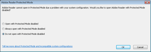 Adobe Reader Protected Mode
