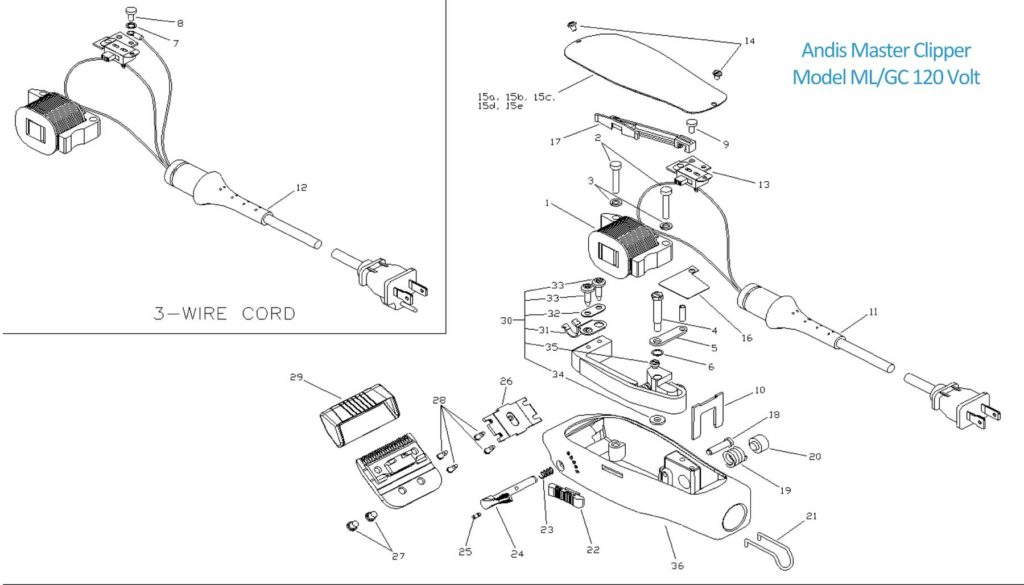 Clipper Parts & Diagrams