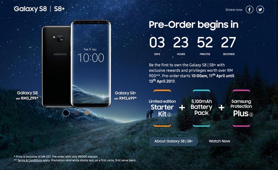 Samsung Malaysia Galaxy S8 Pre Order