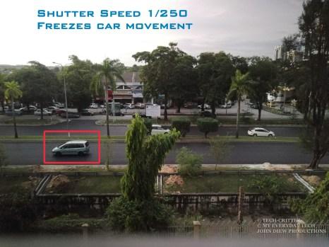 Shutter speed 1/250 seconds