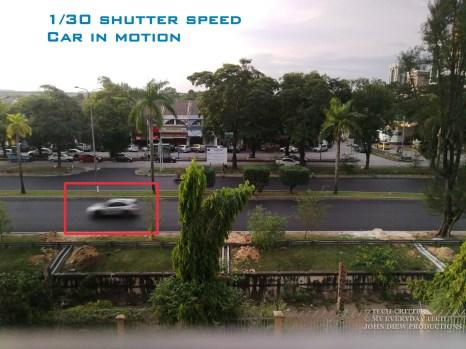 Shutter speed 1/30 seconds