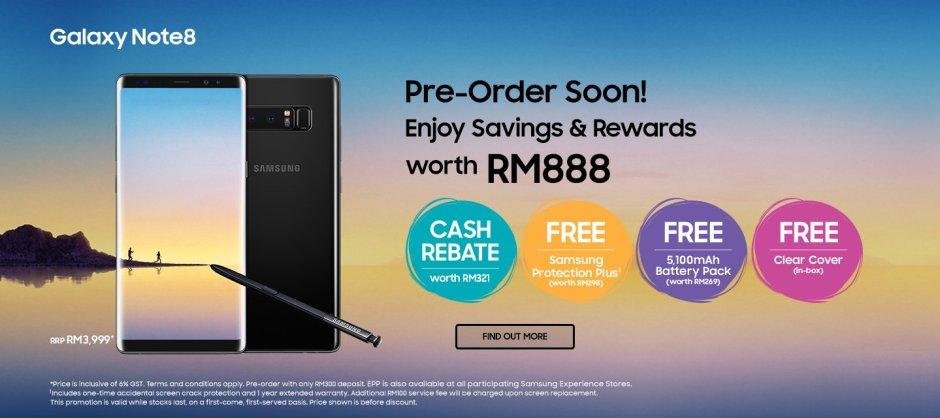 Samsung Galaxy Note8 PreOrder