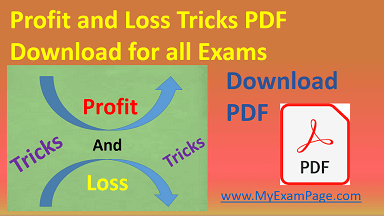 Profit and Loss Tricks PDF Download for all Exams