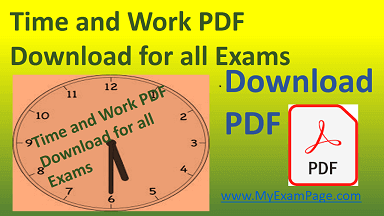Time and Work PDF Download for all Exams