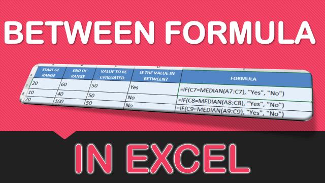 BETWEEN Formula in Excel  MyExcelOnline