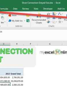 Slicer connection option greyed out for excel pivot table also free rh myexcelonline
