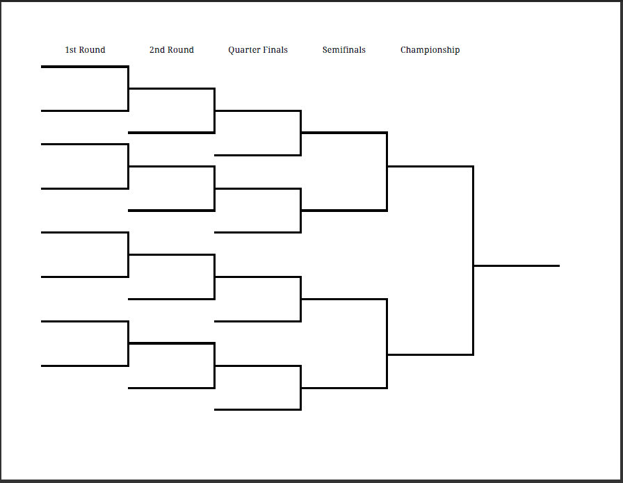blank playoff brackets