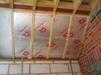 Insulating the vaulted ceiling / roof - My Extension