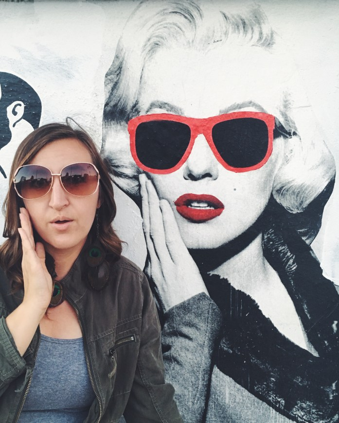 Marilyn Monroe street art on Melrose Avenue in Hollywood, California | The Most Instagrammable Street in LA