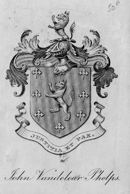 A 19th century framed armorial bookplate : MyFamilySilver.com