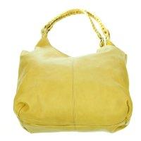 Marco Masi Italian Made Yellow Leather Oversized Designer ...