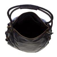 Stephen Italian Made Black Leather Top Handle Designer ...