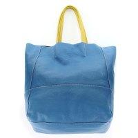 Arcadia Italian Made Cobalt Blue Calf Leather Oversize ...