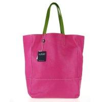 Fuchsia Pink Calf Leather Oversize Shopper Tote Made in ...