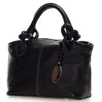 Giordano Italian Made Black Leather Small Handbag Purse
