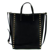 Asia Bellucci Italian Made Black Leather Large Structured ...