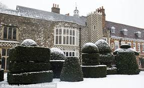 Hall Place in the Snow