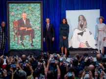 Portraits Of Barack And Michelle Obama Unveiled At The ...