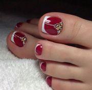easy toe nail art design