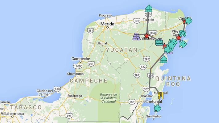 mexico yucatan peninsula itinerary