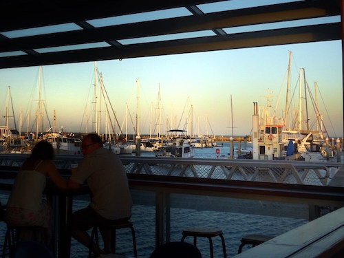 brisbane sunset - manly-boat-harbour-cafe