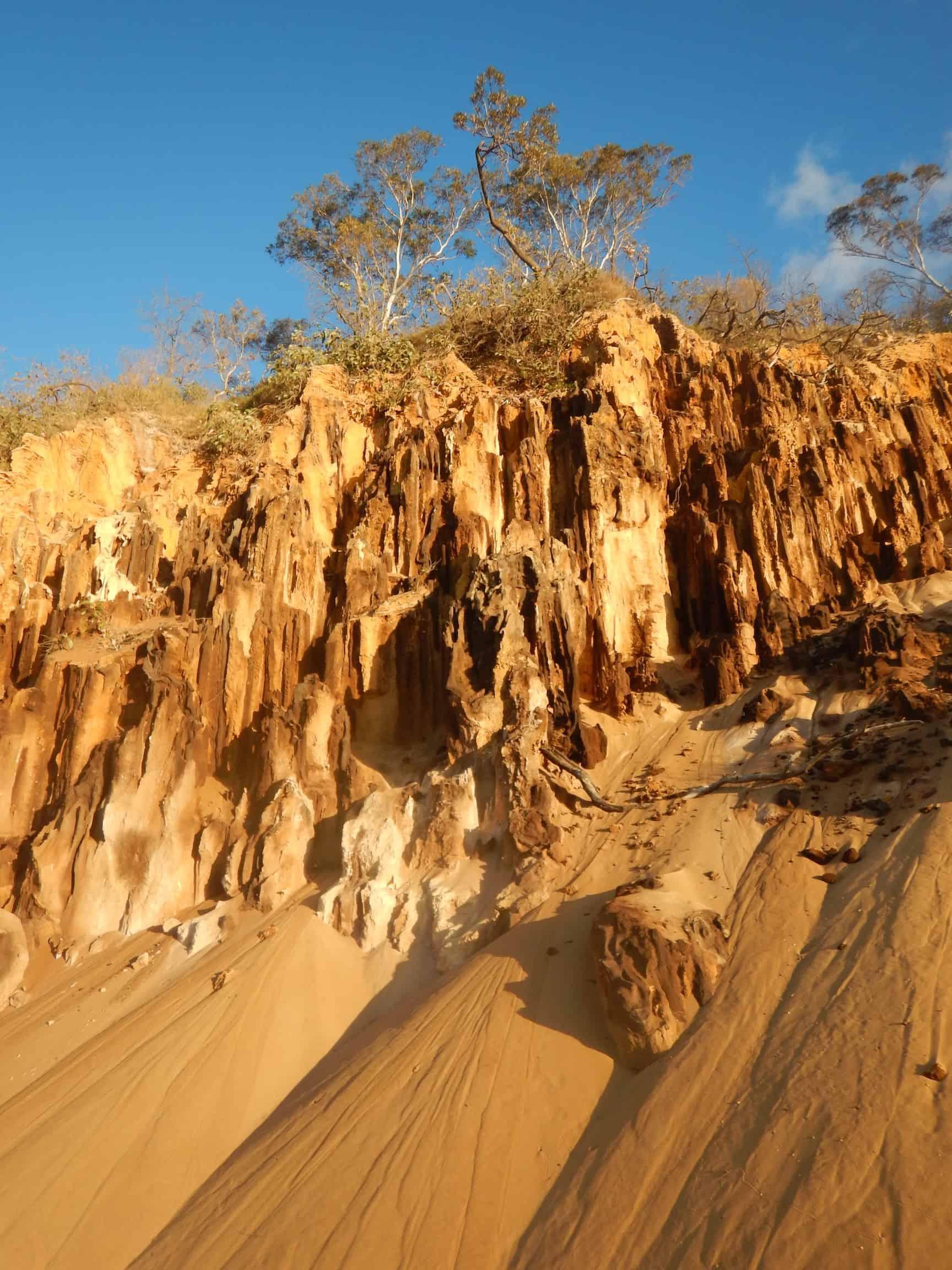 Sand cliffs on Fraser Island