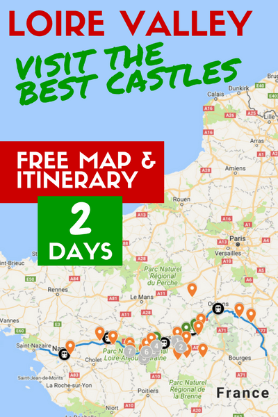 Loire Valley free map and itinerary visit the best castles